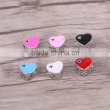 5.0mm Hole Spacer Beads Red European Heart Shaped Big Hole Charm Beads For Bracelet & Necklace Making