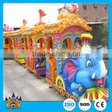 Wonderful amusement rides electric train road train / park toy elephant trackless train for sale