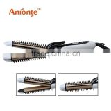 3 in1 hair straightener with on/off switch straightening plates,crimping plates,curler/3 in1 hair curler