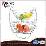 Moden Style 2 Tier Metal Fruit Basket