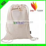 2016 Hot Sales For Promotion Imprint Customized Logo Eco Friendly Fashion Cotton muslin bag drawstring