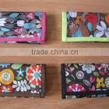 ladies foldable polyester wallet