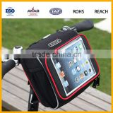 Golden Supplier High Quality Cheap Nylon Waterproof Folding Cycling Bag Bicycle Bag with Pocket for Ipad