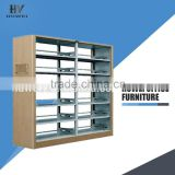 Two Groups Book Magazine Shelf Used Bookcase School Furniture Library