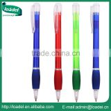 Retractable transparent color customized logo ball-point pen