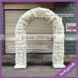 Wholesale White wedding flower arch with Rose for Weddin Stage Backdrop Decoration