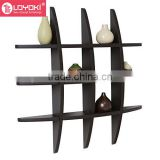 29.5 Inch x 4.25 Inch x 29.5 Inch Globe Cross Display Sudoku Wall Shelf easy assembly wood floating shelf