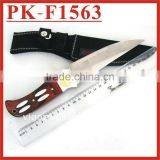 "(PK-F1563) 10"" Wooden Handle Fixed Blade Tactical Survival Knife"