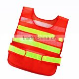 Wholesale Printing Logo Cheap Low MOQ Orange Yellow Green Safety Mesh Traffic Reflectors Incident Vest 3M Reflective Tank Top