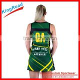 New Style custom sublimation basketball jersey netball dress cheap netball uniforms
