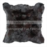 CX-D-107C Cheap Price and High Qaulity Genuine Fox Fur Patchwork Chair/Sofe Cushion Cover