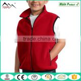 2017 Body Warm Newest Sports Coat Kid Red Fleece Vest