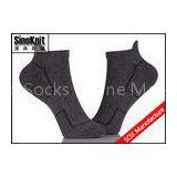 Cool Dark Grey Ankle Custom Athletic Socks , Compression Non Slip Sport Socks