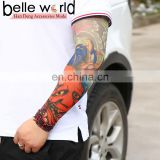Summer Outdoor Cooling Cycling Sun Block Tattoo pattern Uv Protection Sleeve Ice Silk Cone Thimble sunscreen Sleeves