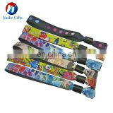 Cheap Promotional Party Custom Fabric Wristbands
