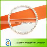 Round crystal rhinestone buckle chair sash,Invitation Diamante Ribbon Slider For Wedding Supplies
