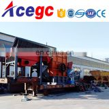 China new design high capacity mobile concrete crushing station price for sale