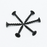 Black drywall screw for plastic board or wood