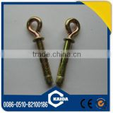 open hook sleeve anchors yellow zinc platedChina manufacturer supply high quality good price