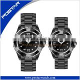 Brand Watch Promotional Couple Quartz Full Stainless Steel Wrist Watch For Couple Cheap Price
