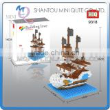 Mini Qute HIQ Anime One piece Thousand Sunny Going Merry pirate ship plastic building cartoon model educational toy NO.9318