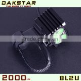 DAKSTAR 2013 New Hot Sale BL2U CREE XML2 2000LM Good Quatity Aluminum Rechargeable Power Beam Bicycle LED Light