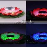 hot sell china style flower floating led solar lamp outdoor