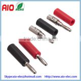 4mm Banana plug Connector speaker male - Plastic - Black & Red