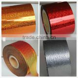 Self Adhesive PVC Gold Metallized Holographic Film(All Sizes And Colors Can Meet)