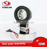 Round 10W LED Work Light 2 Inch 10 Watt Black LED Mini Auxiliary Work Light For Motorcycle car 4X4 Offroad