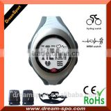 2014 best fintess device 110Hz wireless cycling watch Jogging heart rate watch with chest belt