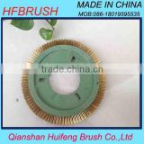 Plastic circle brass brush