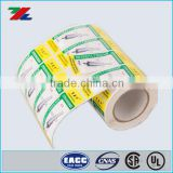 Colored Roll Label for Small Metal Accessories Packaging ; Paper Roll /Sheet adhesive label Printed