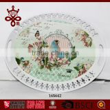 Customized Design gilding Serving Trays High Quality Oval Tray Cheap Price China Tray Manufacturer