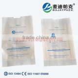 Cheap disposable Heat Sealing Sterilization Gusseted Paper Pouch for surgical isolation gown