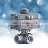 Three Way Thread End ISO5211 Direct Mounting Pad Float Ball Valve