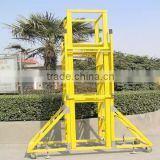Anti-slip Mobile Platform Ladder With Wheels, working platform adjustable for height