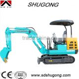 2.2 ton Mini hydraulic excavator with rubber track / cheapest china mini excavator /2.2 t mini excavator