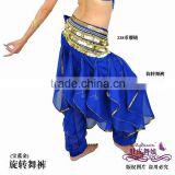 blue belly dance harem pants,chiffon costume for belly dancing,belly dance wear,belly dance clothes,belly dancing clothes