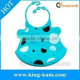 wholesale silicone infant baby bib china supplier baby bib size Cute pattern animal design silicone rubber baby bib