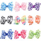 Deshine Wholesale Ribbon Bow Metal Hair Bobby Pin ZX1042