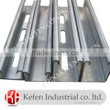 Electrical Unistrut galvanized slotted strut channel of building materail                                                                         Quality Choice