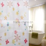 Excellent Quantity 220*200cm New Colorful Flowers Waterproof Bathroom Bath Shower Curtain Polyester With Hooks