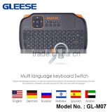 Factory Price 2.4G Wireless Mechanical Computer Arabic Gaming Keyboard and Mouse for Smart TV Box