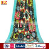 china factory Wholesale Hot Selling alibaba hot products flower designs 100% cotton printed beach towel