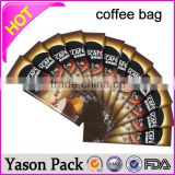 Yason packing for coffee with valve plastic foil coffee bags with valve one way coffee valve