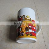 wholesale porcelain 11 oz animal decal mugs