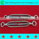 Hot selling high quality 12mm,16mm galvanized turnbuckle electric line hardware