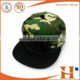 Custom Metal LOGO Camo Sanpback Cap, 3D Embroidery Camouflage Pattern Flat Brim Cap                                                                                         Most Popular