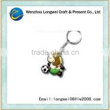 football horse shaped soft pvc keychains/rubber duck keychain/pvc keychain machine